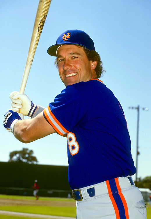 SARASOTA, FL - 1985:  Gary Carter of the New York Mets poses for a photo during spring training in Sarasota, Florida.  (Photo by Ron Vesely)