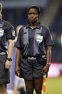 16 October 2014: Assistant referee Milagros Leonardo (DOM). The Mexico Women's National Team played the Costa Rica Women's National Team at Sporting Park in Kansas City, Kansas in a 2014 CONCACAF Women's Championship Group B game, which serves as a qualifying tournament for the 2015 FIFA Women's World Cup in Canada. Costa Rica won the game 1-0.