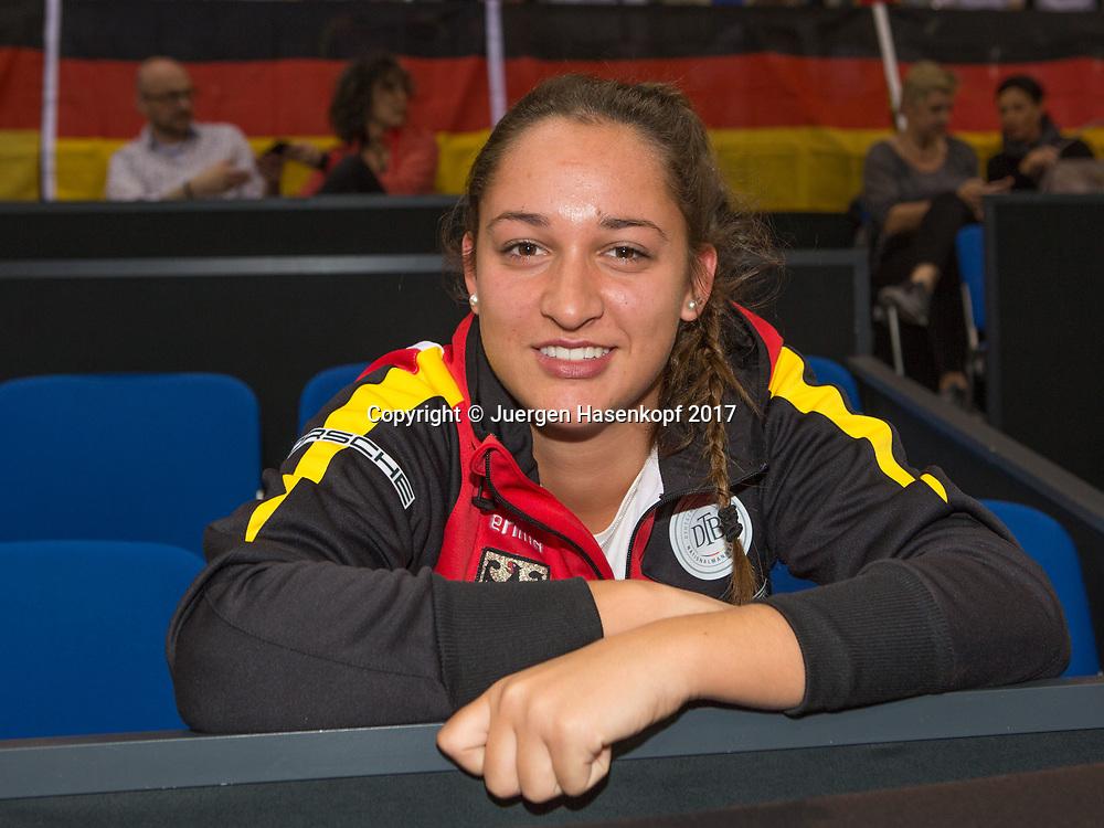GER-UKR, Deutschland - Ukraine, <br /> Porsche Arena, Stuttgart, internationales ITF  Damen Tennis Turnier, Mannschafts Wettbewerb,<br /> Porsche Talent Team Deutschland Nachwuchsspielerin SHALINE PIPA (GER)