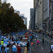 November 1, 2015 - New York, NY : Runners exit Central Park onto Central Park West after completing the 2015 TCS New York City marathon on Sunday.<br />  CREDIT: Karsten Moran for The New York TImes