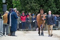Parsonage Gary, (GBR), Sligo Luckyvalier<br /> First Horse Inspection - Mitsubishi Motors Badminton Horse Trials <br /> Badminton 2015