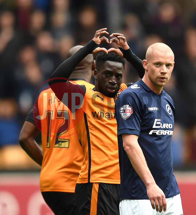 Wolves' Nouha Dicko celebrates his goal - Photo mandatory by-line: Paul Knight/JMP - Mobile: 07966 386802 - 02/05/2015 - SPORT - Football - Wolverhampton - Molineux Stadium - Wolverhampton Wanderers v Millwall - Sky Bet Championship