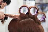 Three hairderssing rollers