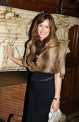 LADY ROSE INNES-KER daughter of the 10th Duke of Roxburghe at a recital and dinner to celebrate the 10th anniversary of The Galitzine Library held at 2 Temple Place, London WC2 on 16th November 2004.<br /><br />NON EXCLUSIVE - WORLD RIGHTS
