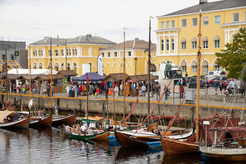 A wooden boat festival in Trondheim, Trondelag, Norway, Europe