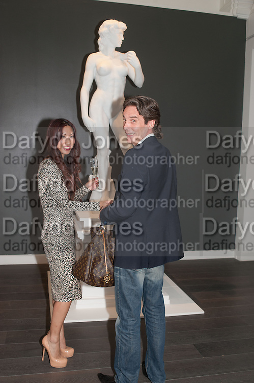 AMY YAU; MARCEL JEAN VAS, Vogue's Fashion night out special opening of the Halcyon Gallery.  New Bond St. London. 6 December 2012.