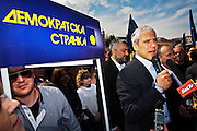 Serbian President Boris Tadic campaigns in the Eastern Serbian town of Golubac on April 19, 2012...Matt Lutton for The Wall Street Journal..SERBELECT