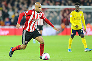 Sheffield United forward David McGoldrick (17)  during the Premier League match between Sheffield United and Arsenal at Bramall Lane, Sheffield, England on 21 October 2019.