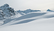 Schnee Berglandschaft