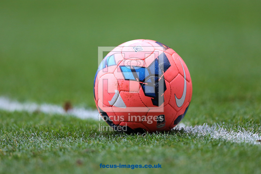 Picture by Richard Calver/Focus Images Ltd +447792 981244<br /> 04/01/2014<br /> Official match ball of The FA Cup, The Nike Incyte Mango during the match between Ipswich Town and Preston North End at Portman Road, Ipswich.