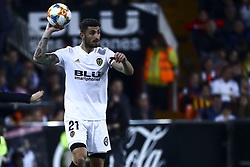 February 28, 2019 - Valencia, Spain - Piccini of Valencia CF During Spanish King La Copa match between  Valencia cf vs Real Betis Balompie Second leg  at Mestalla Stadium on February 28, 2019. (Photo by Jose Miguel Fernandez/NurPhoto) (Credit Image: © Jose Miguel Fernandez/NurPhoto via ZUMA Press)