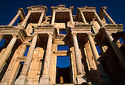 TURKEY, ROMAN CULTURES EPHESUS; The Library of Celsus, the most important building in the best preserved Roman city, south of Izmir