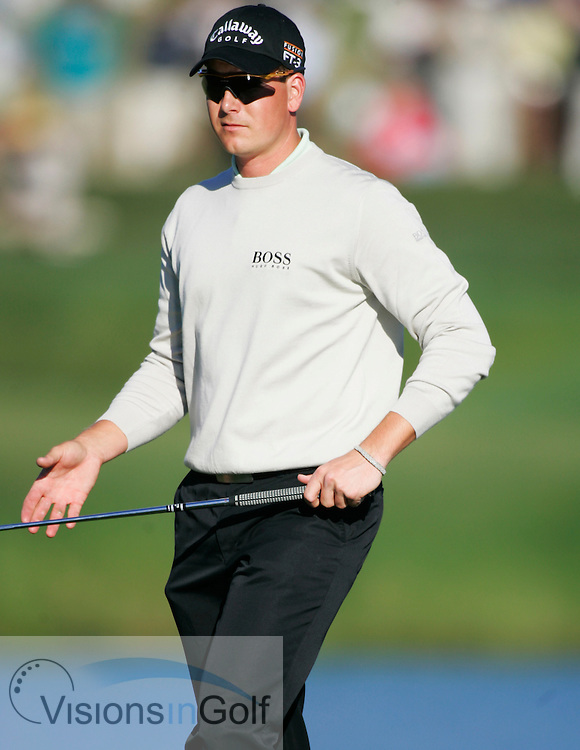 Henrik Stenson after the 17th<br /> THE PLAYERS Championship at TPC Sawgrass GC, Stadium, Ponte Vedra, Jacksonville, Florida USA. 25th March 2006. Day 3.<br /> Picture Credit:   Mark Newcombe / visionsingolf.com