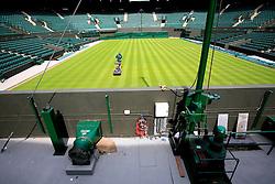 UK ENGLAND LONDON 17AUG07 - General view of the lawn to a height of 1.2 millimetres using a precision lawn mower at Wimbledon Tennis Club Court No. 1 in London.. . jre/Photo by Jiri Rezac. . © Jiri Rezac 2007. . Contact: +44 (0) 7050 110 417. Mobile:  +44 (0) 7801 337 683. Office:  +44 (0) 20 8968 9635. . Email:   jiri@jirirezac.com. Web:    www.jirirezac.com. . © All images Jiri Rezac 2007 - All rights reserved.