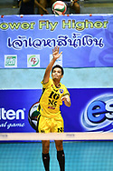 BANGKOK, THAILAND - MARCH 01: Kantapat Koonmee of NK Fitness #16 in action during the 2016–17 Men's Volleyball Thailand League Championship, Chantarubeksa Air Force Stadium, Bangkok, Thailand on October 01, 2017.<br /> .<br /> .<br /> .<br /> (Photo by: Naratip Golf Srisupab/SEALs Sports Images)<br /> .<br /> Any image use must include a mandatory credit line adjacent to the content which should read: Naratip Golf Srisupab/SEALs Sports Images