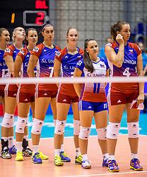 23-08-2017 NED: World Qualifications Czech Republic - Bulgaria, Rotterdam<br /> Line up Czech Republic, Aneta Kocmanova Havlickova #4 of Czech Republic