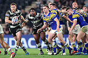 A scrum beaks up during the Betfred Super League match between Hull FC and Leeds Rhinos at Kingston Communications Stadium, Hull, United Kingdom on 19 April 2018. Picture by Mick Atkins.