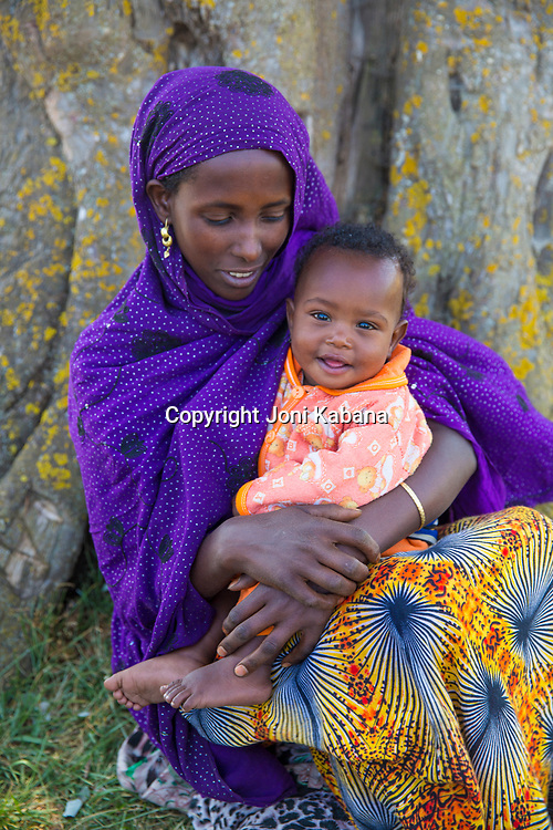 Some of the mothers and babies who are served by the Hamlin midwives in Jarso, Ethiopia.