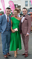 03/08/2017   Repro free At the g Hotel Best Dresed competetion was Gretta Peters from Tipperary with Repro free: Mike McCarthy and Paul Carroll funky fashion frolics at the g Hotel Best dressed competition at the Galway Races. Photo:Andrew Downes. .