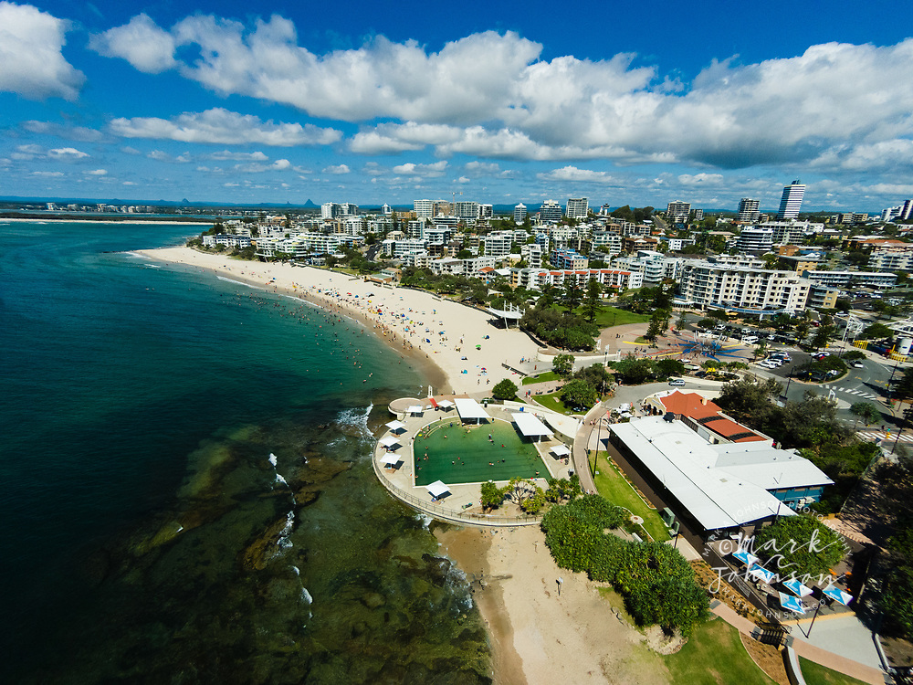 Aerial photograph of Kings Beach, Caloundra, Sunshine Coast, Queensland, Australia