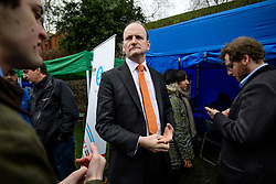 © Licensed to London News Pictures. 08/03/2017. London, UK. UKIP MP DOUGLAS CARSWELL speaking to media outside The House of Parliament in London, on the day that  British chancellor Philip Hammond delivers his 2017 Budget to Parliament. Photo credit: Ben Cawthra/LNP