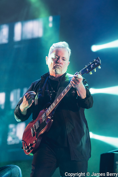 New Order perform live on the Obelisk Stage on Day 2 of Latitude Festival 2016, Sunday 16 July. Picture shows Bernard Sumner.