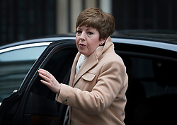 © Licensed to London News Pictures. 01/03/2016. London, UK. Leader of the House of Lords Baroness Stowell arrives for a cabinet meeting. Photo credit: Peter Macdiarmid/LNP