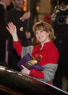 Agnes Soral arrive à la cérémonie des César 2014, France, Paris, Théatre du Chatelet