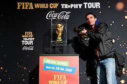 Damjan Zibert of 24ur.com at VIP reception of FIFA World Cup Trophy Tour by Coca-Cola, on March 29, 2010, in BTC City, Ljubljana, Slovenia.  (Photo by Vid Ponikvar / Sportida)