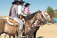Crow Fair, Indian rodeo, barrel racers, Crow Indian Reservation, Montana