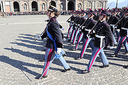 November 17, 2018 - Naples, Italy - Cadets of the famous Italian military school La Nunziatella, the young recruits of the 281th swore loyalty to the homeland. (Credit Image: © Fabio Sasso/ZUMA Wire)