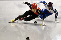 February 8, 2019 - Torino, Italy - Haidong Jia, Daniil Eybog during ISU World Cup Short Track Turin - 500 meter Men Preliminaries. (Credit Image: © Nicolò Campo/Lapresse via ZUMA Press)