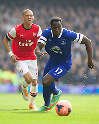 08.03.2014, Emirates Stadium, London, ENG, FA Cup, FC Arsenal vs FC Everton, Viertel Finale, im Bild Everton's Romelu Lukaku, action against Arsenal // during the English FA Cup quater final match between Arsenal FC and Everton FC at the Emirates Stadium in London, Great Britain on 2014/03/08. EXPA Pictures © 2014, PhotoCredit: EXPA/ Propagandaphoto/ David Rawcliffe<br /> <br /> *****ATTENTION - OUT of ENG, GBR*****