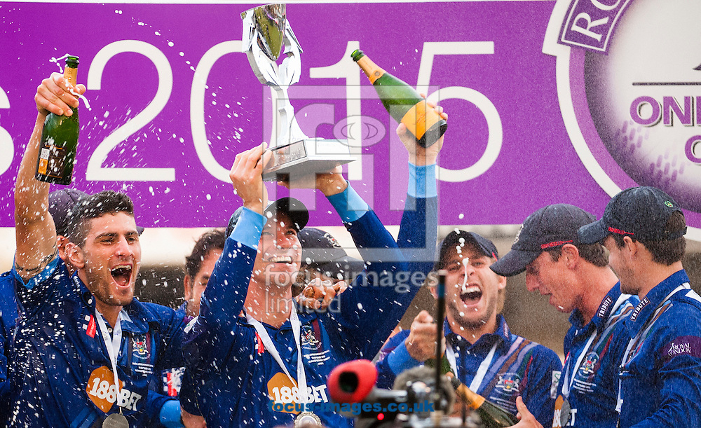 Gloucestershire celebrate after winning Royal London One Day Cup Final match at Lord's, London<br /> Picture by Jack Megaw/Focus Images Ltd +44 7481 764811<br /> 19/09/2015