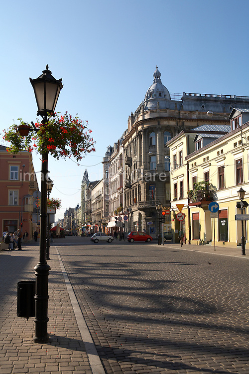 Eastern Europe Poland Western Mazovia Lodz Piotrkowska Street