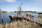 Old fishing boat, Zuiderzee museum, Enkhuizen, Netherlands
