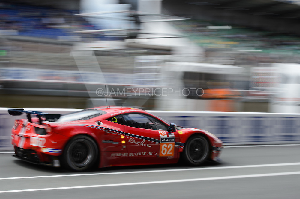 June 14-19, 2016: 24 hours of Le Mans. SCUDERIA CORSA, FERRARI 458 ITALIA, Bill SWEEDLER, Towsend BELL, Jeffrey SEGAL, LM GTE AM