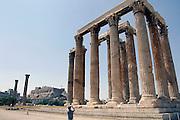 Griekenland, Athene, 5-7-2008Gezicht op de akropolis vanaf de tempel van Zeus.Foto: Flip Franssen