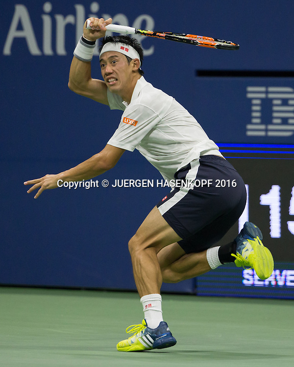 KEI NISHIKORI (JPN)<br /> <br /> Tennis - US Open 2016 - Grand Slam ITF / ATP / WTA -  USTA Billie Jean King National Tennis Center - New York - New York - USA  - 9 September 2016.