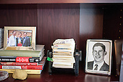 "Washington, D.C. - January 23, 2015: Chris Wallace, is the Anchor of Fox News Sunday. Flanked between a photograph of Chris Wallace and his sons and Chris's brother Peter Wallace, who died after a mountain climbing accident when he was 18, is the Rolodex of Chris and Peter's father, Mike Wallace. Peeking out is the card of David Wolper, a big Hollywood producer who worked with Mike Wallace. <br /> <br /> ""My father, 60 Minutes correspondent Mike Wallace, passed away in April 2012, and just recently I got his Rolodex. It touches me. It's not only a sentimental keepsake, but if you look at how overstuffed it is, it's a reminder of how he worked like the dickens into his 70's and 80's. I want to do the same.""<br /> <br /> The objects in Wallace's office in the Fox News D.C. Bureau is a mix of personal, political and celebrity history. <br /> <br /> CREDIT: Matt Roth for The New York Times<br /> Assignment ID: 30169659A"