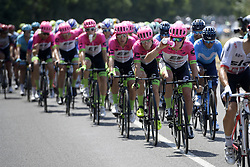 July 14, 2018 - Amiens Metropole, FRANCE - EF Education First - Drapac Cannondale riders pictured in action during the eighth stage of the 105th edition of the Tour de France cycling race, from Dreux to Amiens Metropole (181 km), in France, Saturday 14 July 2018. This year's Tour de France takes place from July 7th to July 29th. BELGA PHOTO YORICK JANSENS (Credit Image: © Yorick Jansens/Belga via ZUMA Press)