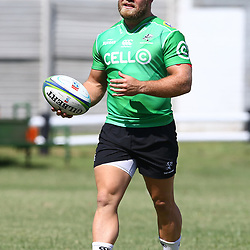 DURBAN, SOUTH AFRICA - FEBRUARY 12: Akker van der Merwe during the Cell C Sharks training session at Growthpoint Kings Park on February 12, 2018 in Durban, South Africa. (Photo by Steve Haag/Gallo Images)