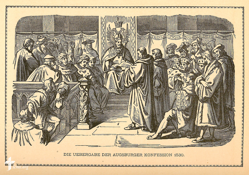 Taken from:<br /> Bendel, Augustus. 1885. Reformations-Albun: 44 Bilder aus der Reformations-Zeit, nebst Erklärung. Reading, PA: Verlag der Pilger-Buchhandlung.