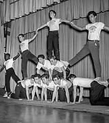 Acrobatic club showing off
