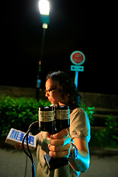 CHINA HONG KONG 24MAY10 - Margaret Lo measures light intensity at a LED lighting pilot project at Hong Kong's Science and Technology University...jre/Photo by Jiri Rezac..© Jiri Rezac 2010