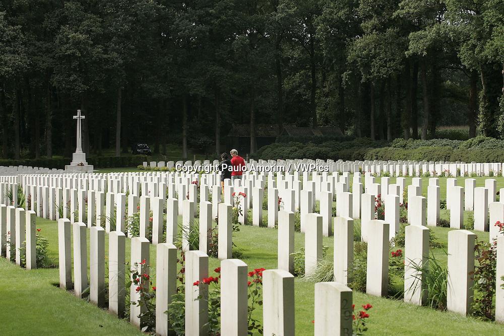 Arnhem Oosterkeek Cemetery War,  memory of  the liberation of Arnhem and Oosterbeek 1939-945  II War World  in the Oosterbeek,Netherlands