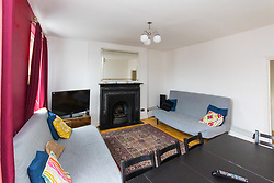 The spacious, airy sitting room in Antony Zomparelli's flat in Islington, which he bought through Right-To-Buy in 2014, but has now been asked to pay more than twice the price after the council mistakenly sold it to him as a one bedroom flat, a small 8ft x 8ft box room being considered a second bedroom. London, February 04 2019.