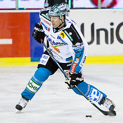 Jan Axel Alavaara (EHC Liwest Linz, #27) during ice-hockey match between HDD Tilia Olimpija and EHC Liwest Black Wings Linz in 51st Round of EBEL league, on Februar 5, 2012 at Hala Tivoli, Ljubljana, Slovenia. (Photo By Matic Klansek Velej / Sportida)