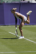 Hercog (SLO) Vs Teichmann (SUI) Action at the Nature Valley International Eastbourne 2019, at Devonshire Park, Eastbourne, United Kingdom on 21 June 2019, Picture by Jonathan Dunville