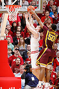 BLOOMINGTON, IN - JANUARY 12: Ralph Sampson III #50 of the Minnesota Golden Gophers blocks a shot against Cody Zeller #40 of the Indiana Hoosiers at Assembly Hall on January 12, 2012 in Bloomington, Indiana. Minnesota defeated Indiana 77-74. (Photo by Joe Robbins)